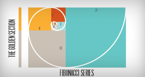Fibonacci series golden section image