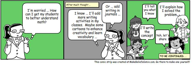 Writing in Math Cartoon