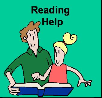 Reading Help: Man helping girl to read